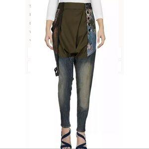 Mariagrazia Panizzi Tapered Multifabric Harem Jean